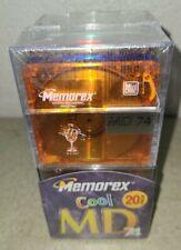 Memorex 74 Minute 20 PACK Minidisc Media Cool Colors SEALED New NOS 1999