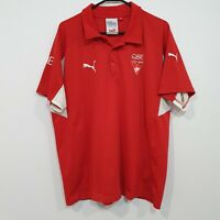 Vintage Puma Sydney Swans AFL Team Polo Shirt Size XL relaxed fit