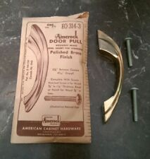 NOS Vintage Cabinet Amerock E0 314-3 Wrought Brass Polished door pull