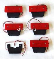 6 pcs 12 VOLT 12V SIDE LED RED REAR TAIL MARKER LIGHT TRAILER VAN BUS TRUCK NEW