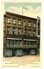 New York City NYC -LION D'OR TABLE D'HOTE-FRENCH RESTAURANT-Postcard W 24th ST