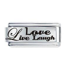 18 mm Live Love Laugh-DAISY Charm JSC accoppiamenti Classic Taglia Italiana Charms Bracciale