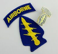 U.S. ARMY SPECIAL FORCES COMMAND AIRBORNE PATCH METAL BADGE BROOCH