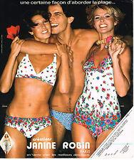 PUBLICITE ADVERTISING 015  1976  JANINE ROBIN   maillots slip de bain
