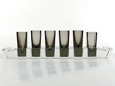 Czech Art Deco Schliffglas SCHNAPSSET ° handgeschliffenes 30's Glas Unikat