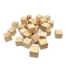 Natural Wooden Cube Block Arts & Crafts Preschool Project 5/8