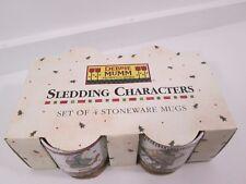 Debbie Mumm Sledding Characters Mug Set of 4 BRAND NEW