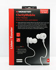 Monster Clarity Mobile In-Ear Buds Headset Headphones w/Control Talk (White) NEW