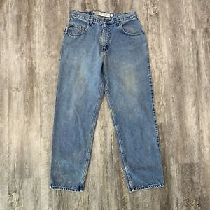Vtg 90's Bugle Boy Gold Crest Loose Fit Blue Jeans Men's Size 32 X 32