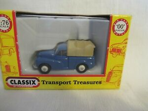 CLASSIX MORRIS MINOR PICK UP - BLUE WITH REAR COVER SCALE 1:76 EM76632