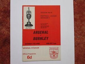 ARSENAL v BURNLEY 1967/68