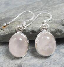 925 Silver PINK ROSE QUARTZ Earrings E424~Silverwave*uk Jewellery