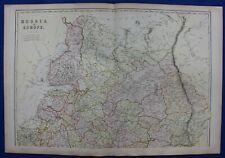 NORTH RUSSIA IN EUROPE, BALTIC, WHITE SEA, original antique map, Blackie, 1882