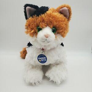 "Build-A-Bear Promise Pet Calico 13"" Kitty Cat Green Eyes - Velvety Soft & Cuddly"