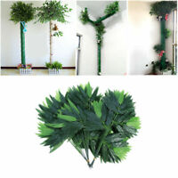 12/50 Pcs Decorative Natural Nontoxic Artificial Green Bamboo Greenery Leaves