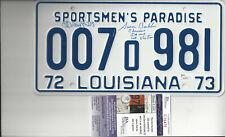 New listing Jaws Louisiana license Plate Autographed by 1st Victim & Richard Dreyfuss Jsa