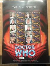 GB Smiler Sheet The Third Doctor Who Jon Pertwee by The Stamp Centre