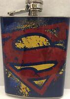 DC Comics Superman Flask Stainless Steel 7oz Brand New New 52 Rebirth