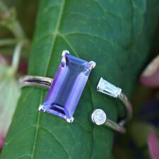Brillant Amethyst Ring 0.15 ct 750er GOLD ELFENZART TOLLE FARBE SW1510.-EUR
