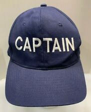 Captain Baseball Cap SnapBack Hat Men OSFA Navy Blue Block Logo By KC