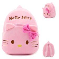 Hello Kitty Backpack All Pink Plush Cartoon Children Kids School Free Shipping