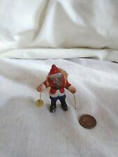 """Vintage Christmas Metal Santa lead Skiing Santa Lead or Sludge Figure 3"""""""