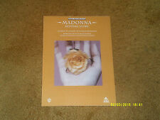 Madonna sheet music Bedtime Story 1995 7 pages (NM shape)
