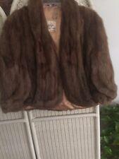 VTG Chocolate Mitvalsky's FineFur Brown Cloak Capelet Poncho One-Size
