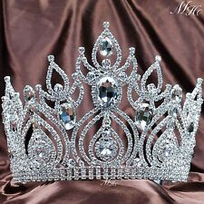 Magnificent Clear Austrian Rhinestone Tiara Crown Wedding Bridal Pageant Party