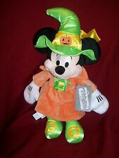 "Disney Store Halloween Witch MINNIE MOUSE Plush 15"" Authentic DISNEY PATCH NWT"