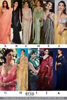 Celebrity Indian Saree Georgette Party Designer Festive Sequins Reception Sari