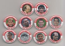 NOTTINGHAM FOREST FC  LEGENDS MAGNETS X 20    38mm  In Size