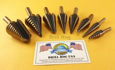 Drill Hog® Step Drill Bit Set M7 Molybdenum Step Bit UNIBIT Lifetime Warranty