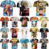 New Women Men Dragon Ball Z Vegeta Goku Super Saiyan Print Casual 3D T-Shirt Tee