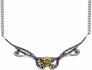 """16""""+2"""" Rocklove Disney Sterling Silver Little Mermaid Tentacle Collar Necklace"""