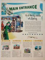 1948 Greyhound Bus 1940s Tourism Travel Vintage Wall Art Poster Print Ad