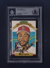 Ozzie Smith signed 1987 Donruss Diamond King BB card Beckett Authenticated