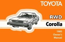 1985 Toyota RWD Corolla Owners Manual User Guide Reference Operator Book Fuses