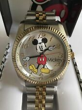 Disney Mickey mouse MEN,two Tone  watch, Quartz. new/ Box warranty. Free  Ship