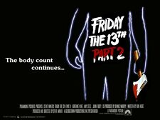"""FRIDAY THE 13th PART 2 repro UK quad poster 30x40"""" Jason Vorhees FREE P&P horror"""