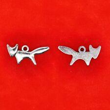 20 x Tibetan Silver Fox Animals Charms Pendants