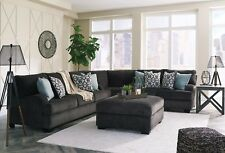 Ashley Furniture Charenton 3 Piece Sectional Charcoal Color Living Room 1410177