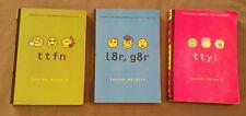 Lauren Myracle lot of 3 texting paperbacks: ~ ttyl ~ ttfn ~ l8r, g8r ~ FREE SHIP