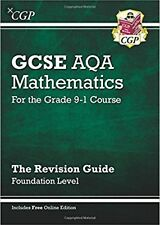 New cgp GCSE AQA grade 9-1 FOUNDATION maths revision guide book + online edition