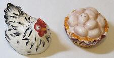 Chicken Egg Basket salt & pepper shakers set kitchen dinner table decoration
