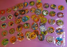 Pogs LOONEY TUNES * Set of 60 * 1995 * Sheets included * Very Nice Set *