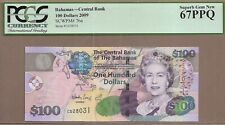 BAHAMAS: 100 Dollars Banknote, (UNC SUPERB GEM PCGS67), P-76a, 2009, No Reserve!