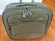 SAMSONITE Sage Green Wheeled Multi Use Luggage Business Overnight Carry-on