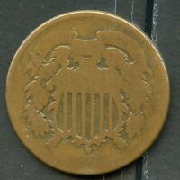 UNITED STATES 1864 2c PIECE YOU DO THE GRADING HAVE FUN BIDDING