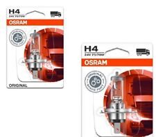 2 x 24V OSRAM H4 GLÜHLAMPE P43T 75/70 WATT